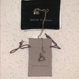 David Yurman heart necklace with diamonds